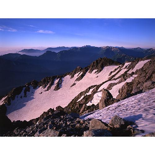 雪溪の稜線