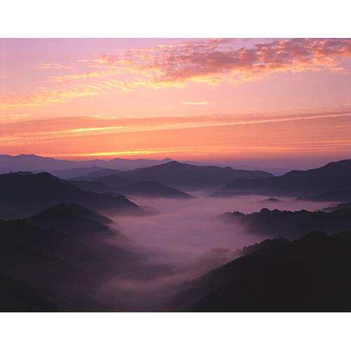 朝焼と雲海