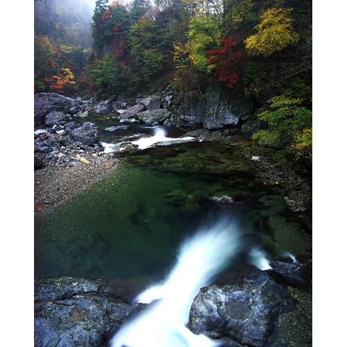 紅葉の溪谷